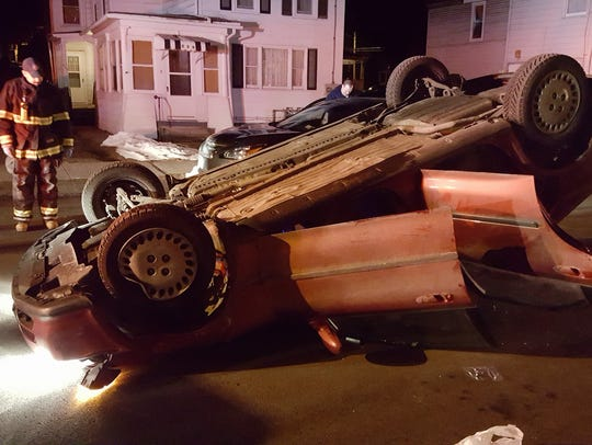Elmira police and firefighters responded early Monday
