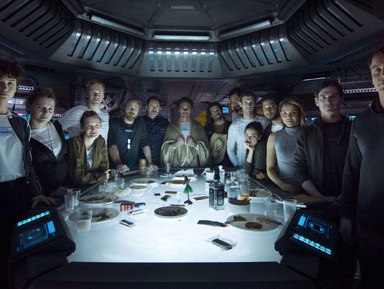 """The ill-fated crew of the Covenant in """"Alien: Covenant."""""""