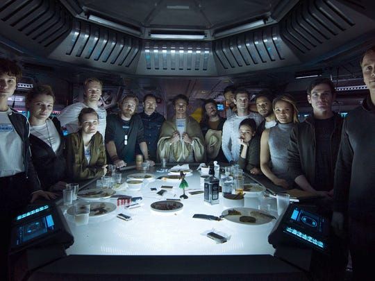 "The ill-fated crew of the Covenant in ""Alien: Covenant."""