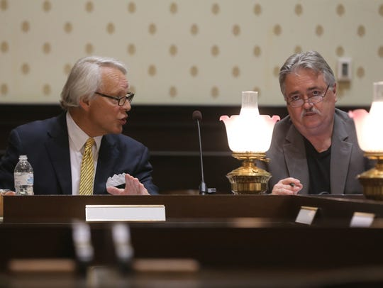 Members of the Rutherford County Ethics Committee ask
