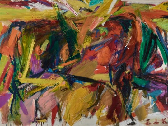 """Saturday: Elaine de Kooning's """"Bullfight,"""" exhibiting as part of """"Women of Abstract Expressionism"""" at the Palm Springs Art Museum."""