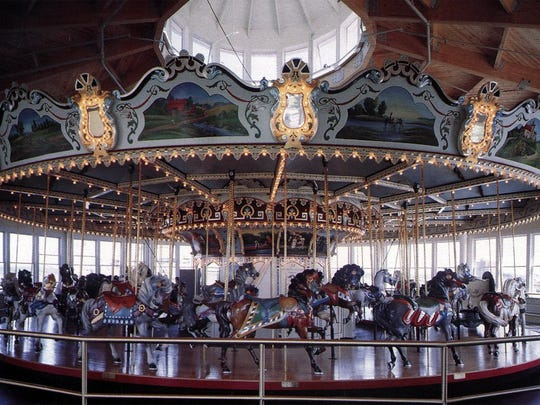 Rent the Heritage Carousel for a private proposal she'll never forget.