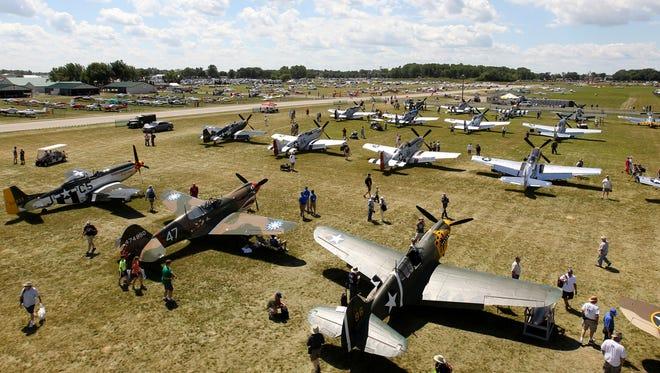 Warbirds at AirVenture 2013.