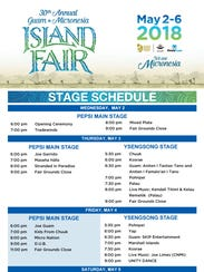 Pepsi Main Stage and Ysensong Stage schedules. The