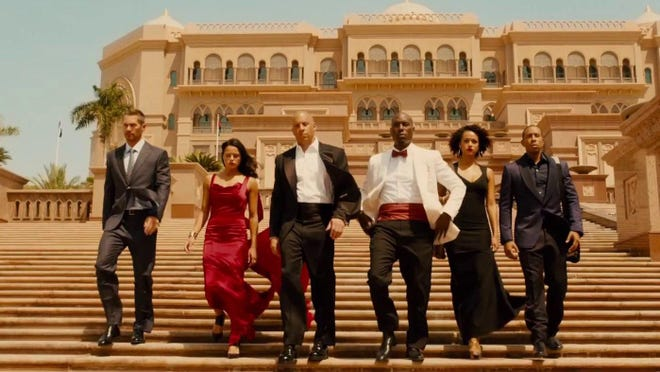 """Worst of the year: The ensemble action film """"Furious 7"""" was highly overrated."""