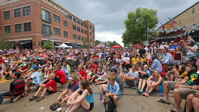The 4500 block of Oakland Ave. will be shut down for the first-ever Shorewood Shenanigan's event celebrating St. Patrick's Day. This section of Oakland Avenue has been shut down for numerous other events, including the Shorewood Criterium, Shorewood Plein Air Festival and the 2014 World Cup, pictured here in this 2014 file photo.