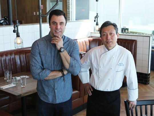 Owner Jeremy Casilli and chef Hok Chin at 3 Westerly