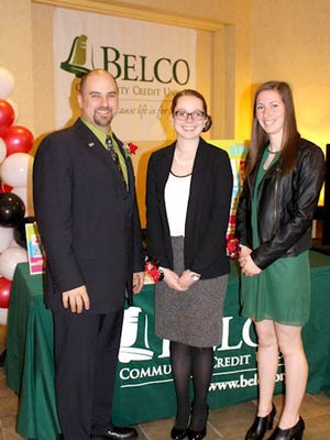 Pictured, from left, are: Paul Perini III, senior vice president of Belco Operations; Kristi Teal and Jessica Snader.