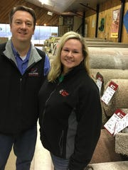 Hank and Julie Smith, brother and sister, say it's been difficult in recent years to make a profit at the Carpet Barn on Highway 13.