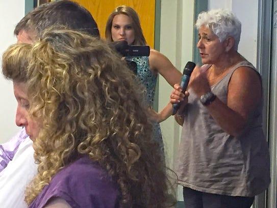 Joan Lenes, representative for Chittenden 5-2, speaks