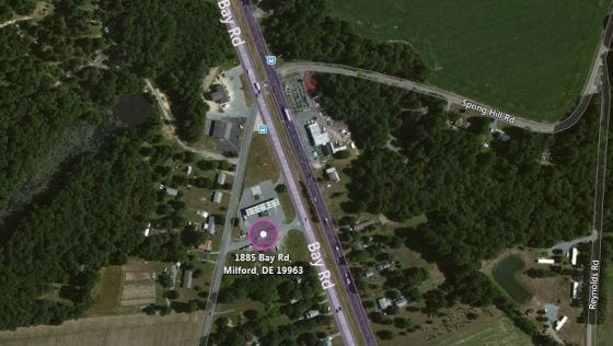 Delaware State Police provided this satellite photo of the location of an armed robbery near Spring Hill on Jan. 14.