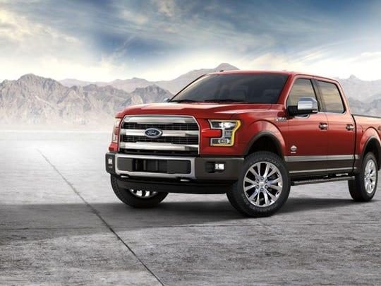 2017 Ford F-150 King Ranch in the desert.