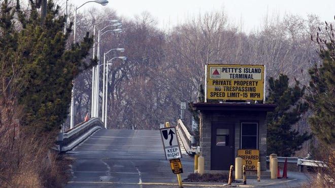 The Entrance to Petty's Island Terminal in Pennsauken.