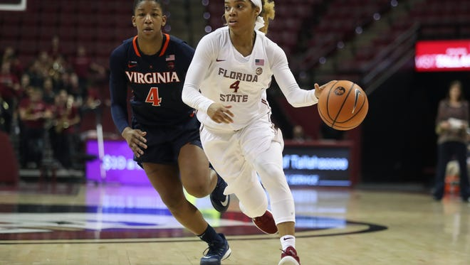 AJ Alix's 6.5 assists per game for the Seminoles put her among the ACC leaders.