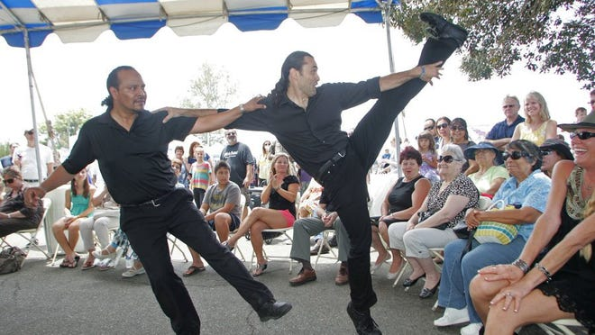 STAR FILE PHOTO Greek dancing is always a hit at the Ventura County Greek Festival. Here, professionals from The Greek restaurant in Ventura demonstrate their skills at the 2014 festival.