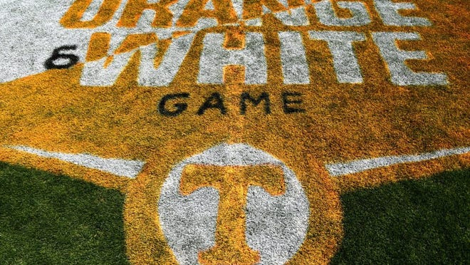 Fans are allowed to on the field before the UT Orange and White Spring Game Saturday, April 16, 2016 to get one autograph per fan.