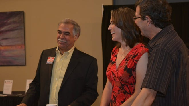 Contributed photo Alex Garcia (from left), Paula Edwards and Billy Edwards