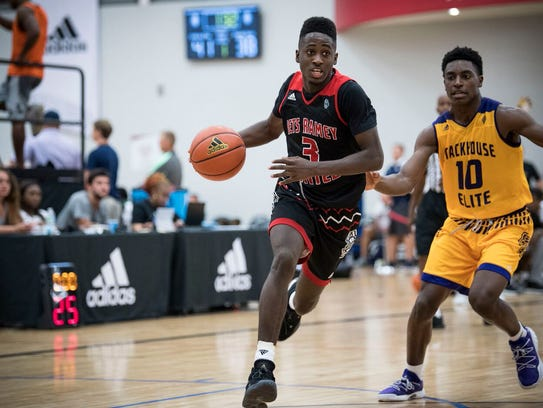 Louisville pledge Courtney Ramey competes at an Adidas