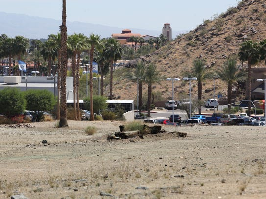 View of Volkswagen Palm Springs and other Cathedral