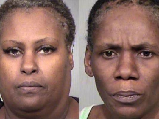 Pamela Davis (left) and Kimberly Washington
