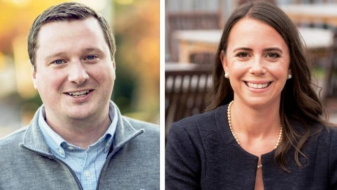 State Sen. Patrick O'Connor, R-Weymouth, and his challenger Meg Wheeler, a Cohasset Democrat.