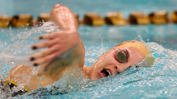 Red Lion's Courtney Schaefer, one of the area's top swimmers, competed in the girls 500 freestyle event against York Suburban on Dec. 18. (Photo by Kate Penn - —GameTimePA.com)