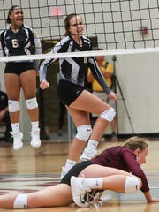 T.L. Hanna freshman Megan Vickery reacts after the