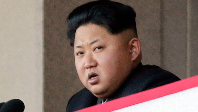 North Korean leader Kim Jong Un delivers remarks at a military parade in Pyongyang in 2015.