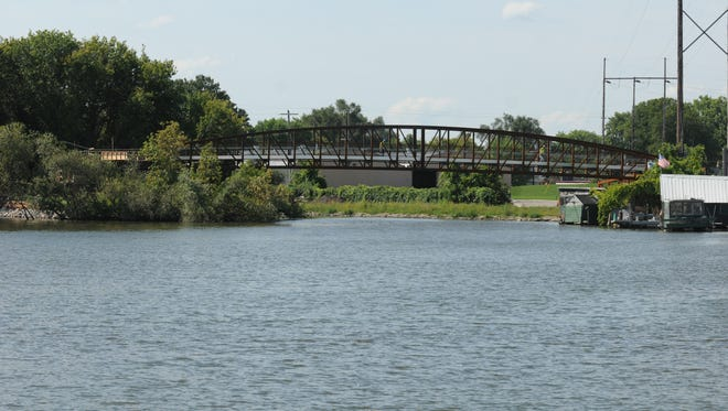 The old steel 1899 CN railroad bridge that use to span the Fox River in Oshkosh is getting new life connecting across the Boatworks property to Riverwalk on the south side of the Fox River.
