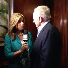 Dallas Cowboys owner Jerry Jones interviewed at NFL owners meeting.