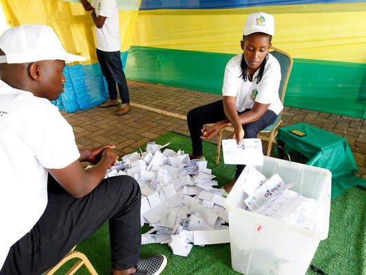 EPA EPASELECT RWANDA ELECTIONS POL ELECTIONS RWA