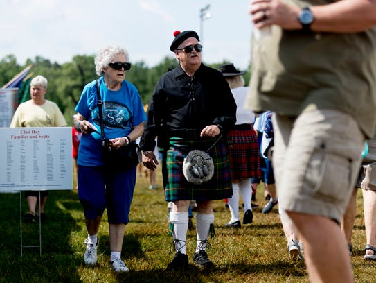 Visitors browse at the Smoky Mountain Scottish Festival