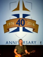 Singer and songwriter Edwin McCain performed at Jackson Christian's 40th Anniversary Celebration and fundraiser, Thursday evening.