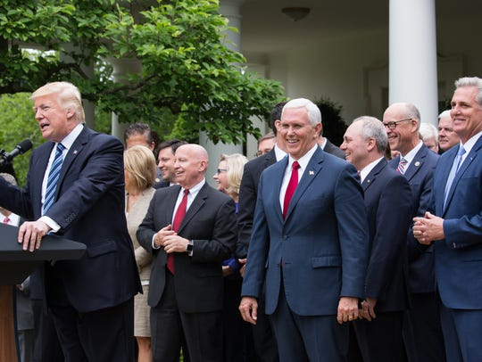 President Trump held a press conference with members