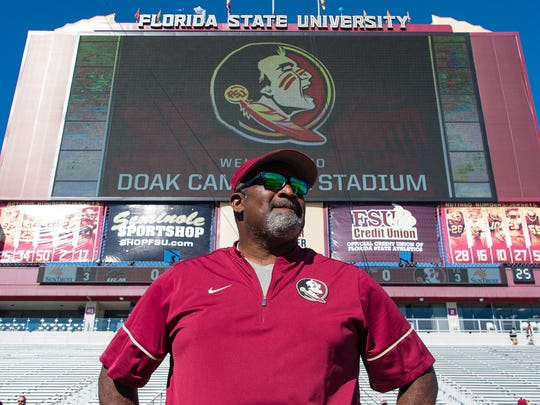 Florida State interim head coach Odell Haggins takes