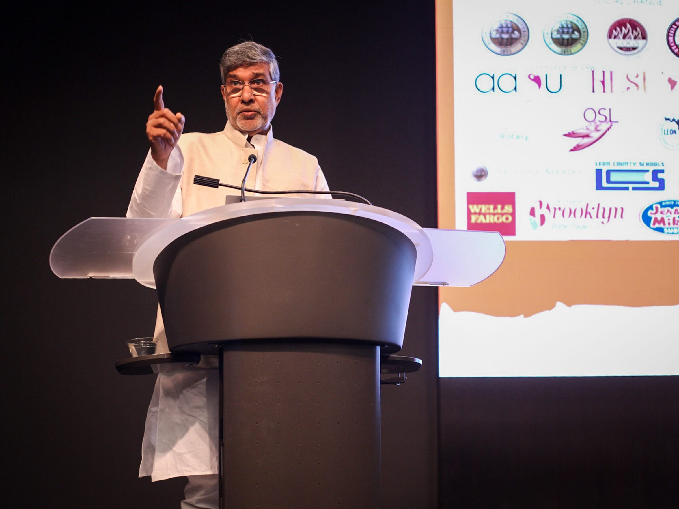 After his public talk, Kailash Satyarthi hosted a weekend