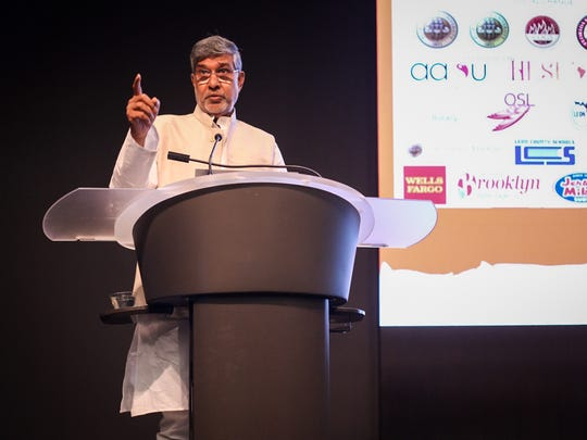 After his public talk, Kailash Satyarthi hosted a weekend of events for PeaceJam Southeast's Youth Leadership Conference.