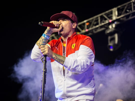 Vanilla Ice performs April 15, 2018, during Doak after Dark. Vanilla Ice, aka Robert VanWinkle, owned a home in Port St. Lucie.