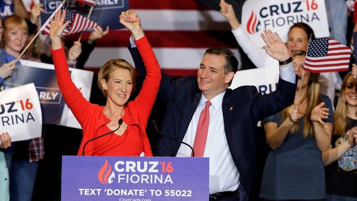 Cruz announces he has chosen Carly Fiorina as his running