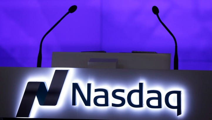 The Nasdaq logo is displayed in the electronic stock
