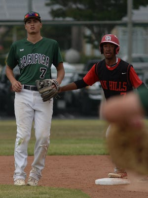 Pacifica's Anthony Magdaleno, left, was named the Pacific View League's Player of the Year.
