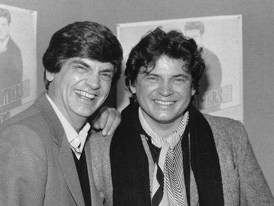 The Everly Brothers --- Phil, left, and Don --- are