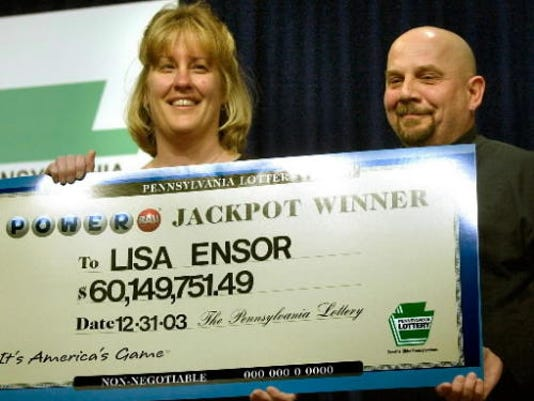 Lisa Ensor won $60.1 million in a Powerball drawing in 2003.