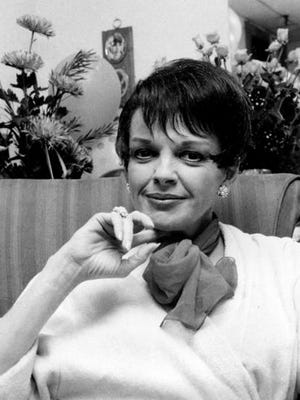 FILE - This July 31, 1967 file photo shows actress-singer Judy Garland backstage at the Palace Theater in New York. Representatives for a cemetery and the family of Garland say her remains have been moved from New York to a Los Angeles mausoleum. Garland's three children, including actress Liza Minnelli, live in Southern California and wanted to have Garland resting near them, Noelle Berman, a Hollywood Forever spokeswoman, told The Associated Press.