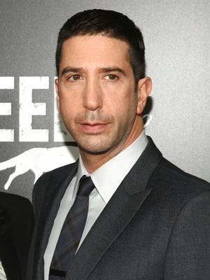 "FILE - In this May 23, 2016 file photo, David Schwimmer attends the premiere screening of AMC's new series, ""Feed The Beast"", in New York. Schwimmer, Cynthia Nixon, Bobby Cannavale, Grace Gummer and Noah Emmerich, among others, appear in a series of short films launched this week as part of a campaign called That's Harassment. Each offers a disturbing glimpse into how abusers assume control, whether they're fellow bartenders, co-workers or bosses, and how such abuse can play out in plain view of bystanders."