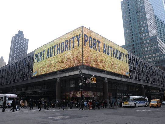 Port Authority Bus Terminal in Manhattan.
