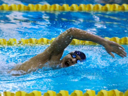 Tim Park of NV/Demarest competes in a Big North meet