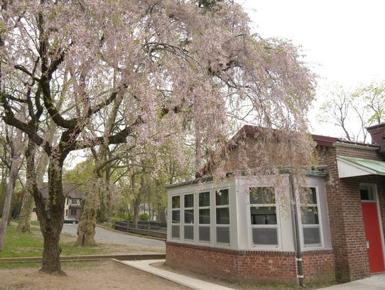 A picture of the side of the Haworth Public School