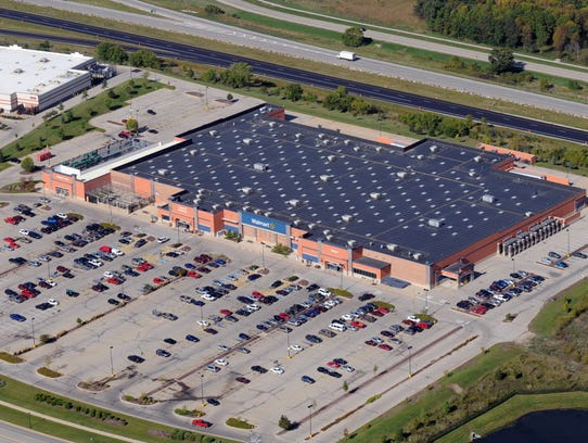 This is a 2013 aerial view of the Mukwonago Walmart