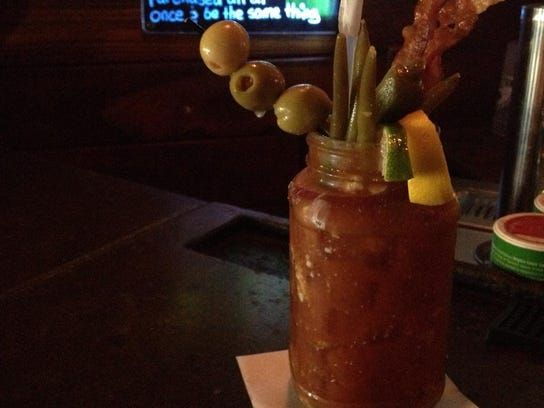 A bloody mary from Caffe Cottage contains all the trimmings,